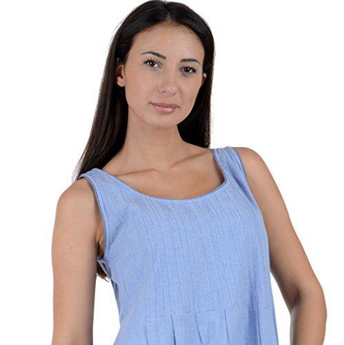 Cotton Lane - Chemise de nuit - Robe - Sans Manche - Femme