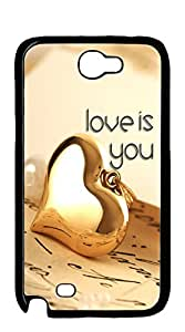 NBcase Love is You Hard PC case for samsung galaxy note 2 for girls