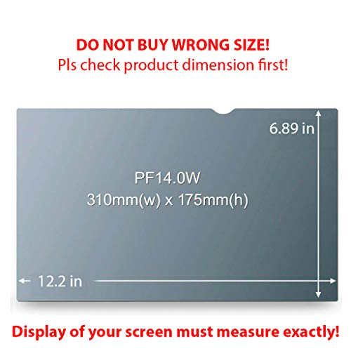 Homy Laptop Privacy Filter Compatible with 14.0 Inch Widescreen (12.2 x 6.9 in) - Anti-spy Screen Protector for Widescreen Laptops Matte Surface Storage Folder & Anti Spy Web Camera Cover. by Homy international (Image #1)