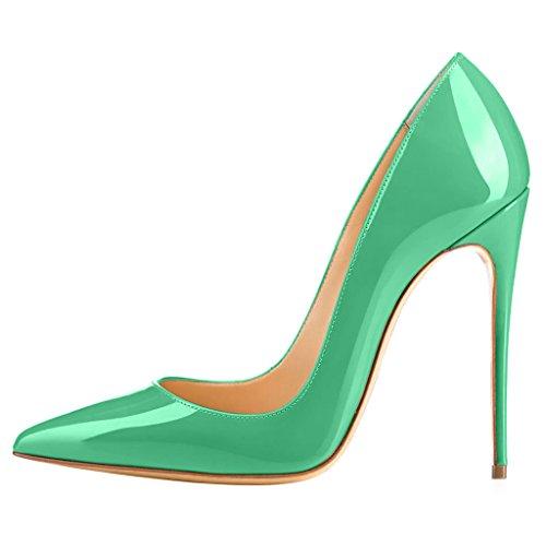 Calaier tacco verde col Cahen Scarpe donna C S6wnZSx