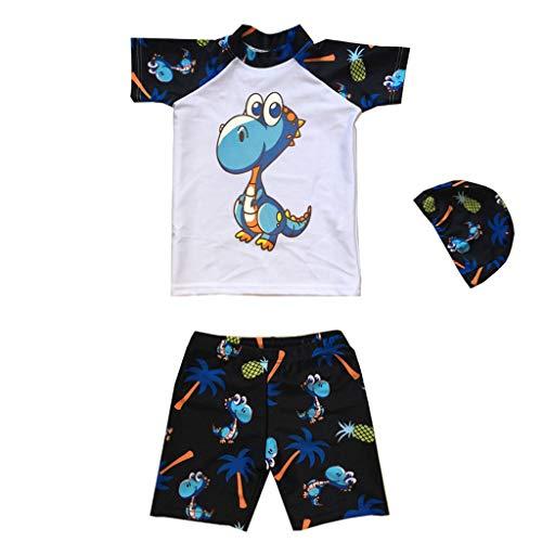 Little Boy Swimwear Sets,Jchen(TM) Baby Kids Little Boys Animal Print Beachwear Swimsuit Bathing Suit for 1-7 Y (Age: 4-5 Years, White) by Jchen Swimsuit (Image #3)