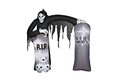 Gemmy Airblown Inflatable Grim Reaper Archway with...