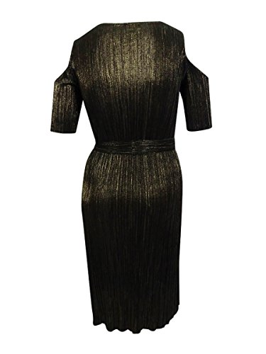 Metallic Crinkled Connected Womens Dress Party Apparel Gold Connected Apparel qXI416wxOn