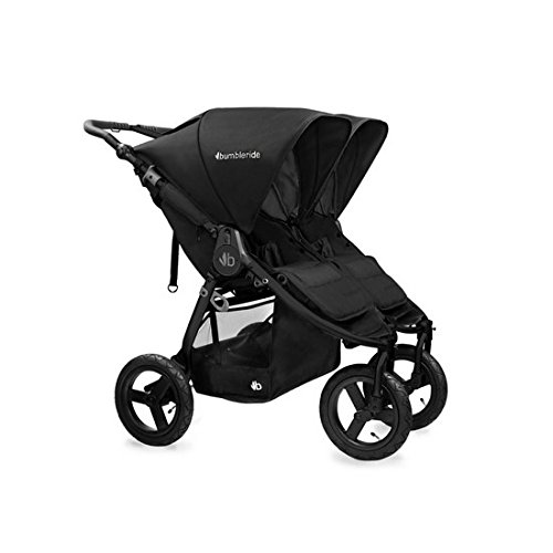 Bumbleride 2016 Indie Twin Stroller with SPF 45 Sun Canopy Extension … (Matte Black) by Bumbleride (Image #1)