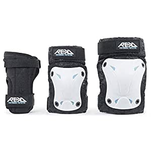 Rekd Recreational Triple Protecciones, Unisex Adulto, White, XL