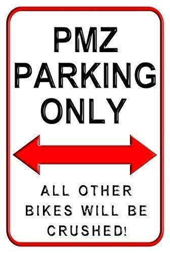 Toddrick PMZ Parking Only Cartel de Chapa Estilo Vintage ...