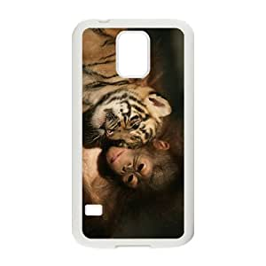 Monkey And Tiger Hight Quality Plastic Case for Samsung Galaxy S5 by runtopwell