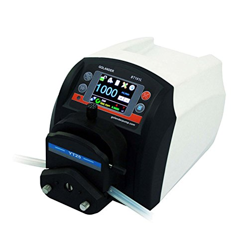 BT101L Intelligent Flow Peristaltic Pump with Pump Head YT25 (1 Channel), Flow Rate 0.006~720 mL/min by Golander Pump