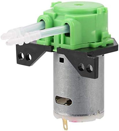 Naroote Schlauchpumpe, DC12V/24V Dosierpumpe DIY Schlauchkopf für die chemische Analyse im Aquariumlabor(grün 12v 2 * 4)