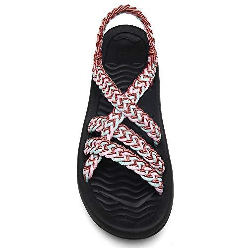 MEGNYA Women's Walking Sandals Comfortable Flat Summer Beach Water Sandals18ZDKDME01-W9-9 BD