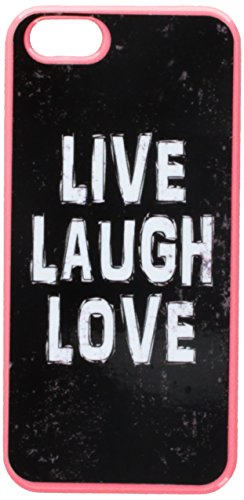 Graphics and More Live Laugh Love Distressed Inspirational Snap-On Hard Protective Case for iPhone 5/5s - Non-Retail Packaging - Pink