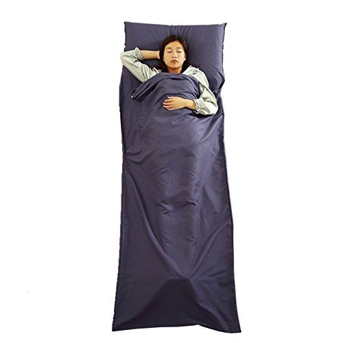 JTENG Hüttenschlafsack Schlafsack Inlett huettenschlafsackleichter tragbare Reiseschlafsack ideal für Hotel und Trekkingtouren Outdoor Reisen Blatt