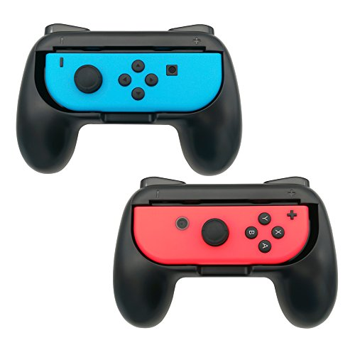 FastSnail Joy-Con Grips for Nintendo Switch, Wear-resistant Joy-con Handle for Nintendo Switch, 2 Pack (Black) (Switch Resistant)