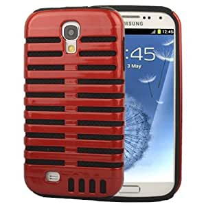 DapurMu - Microphone Style Plastic + Silicon Combination Case for Samsung Galaxy SIV / i9500 (Red)