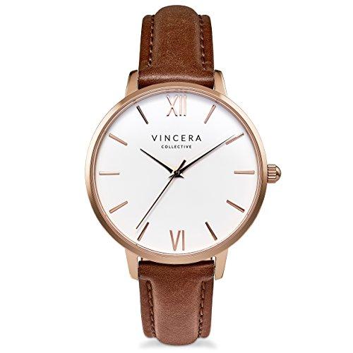 Vincero Luxury Women's Eros Wrist Watch with a Leather Watch Band — 38mm Analog Watch — Japanese Quartz...