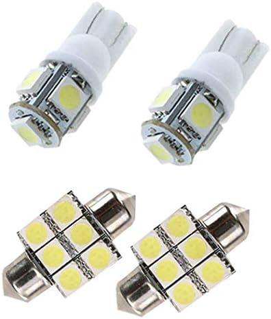 [スポンサー プロダクト]のために適した Honda CIIMO CITY CIVIC 2012 車内ランプLED ドームライト バルブ ライセンスプレートライ ウェッジ ポジションランプ 置換灯 ホワイト 白 高輝度 爆光12V 4個