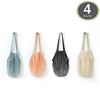 JM-capricorns 4 Pack Reusable Grocery Bag