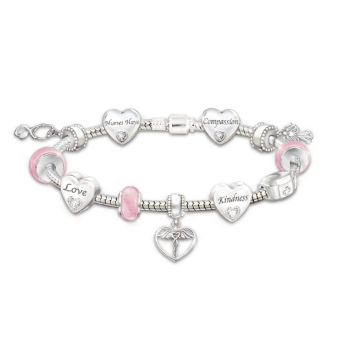A Nurse's Heart Charm Bracelet by The Bradford Exchange by Bradford Exchange (Image #5)