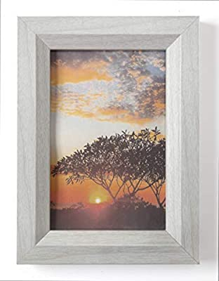 Sixtrees 4X6 and 5X7 Inch Wood Picture Frames Set, Real Glass, for Tabletop - Easel On Back for Desks, Black Or White, Premium Luxury Frames Bulk 4pack and 8pk