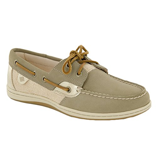 Top Platinum Women's Boat Sider Taupe Koifish Sperry Shoe vwdTO7