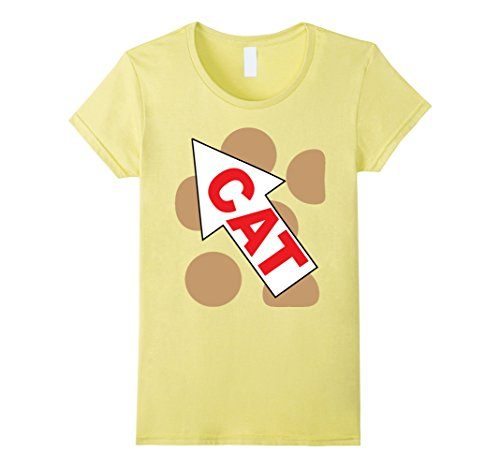 Cat And Dog Couple Halloween Costumes (Womens Cat Dog Group Family Matching Halloween Costume TShirts Large Lemon)