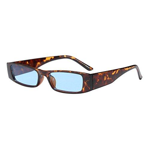 Lenti Leopard Occhiali In Rettangolare Hzjundasi Plastica Donna Cornice Chic Vintage Eyewear Retro Cornice blu Polarizzati piccola Da Sole kZXiuTOP