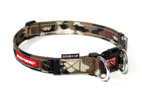 EzyDog Double Up Dog Collar, Medium, Green Camo