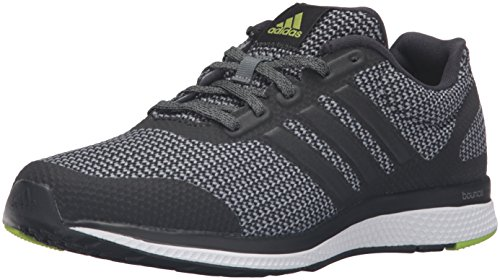 adidas Performance Men's Mana Bounce Running ShoeVista Grey/Black/Semi Solar Slime8.5 M US
