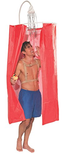 Mens Rubber Duck Costume (Forum Novelties Men's Just For Laughs Shower Curtain Costume, Multi, Standard)