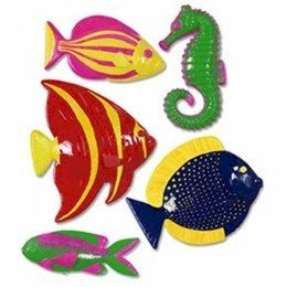 Plastic Fish Party Accessory (1 count) (5/Pkg) by Beistle