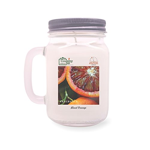 Country Jar Blood Orange Soy Candle (14 oz. Mason-Carry Jar) / 20 Percent of 3 or More Sale!