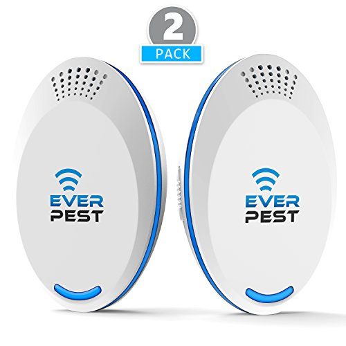 (Ultrasonic Pest Repellent Control 2018 (2-PACK), Plug in Home, Flea, Rats, Roaches, Cockroaches, Fruit Fly, Rodent, Insect, ndoor and Outdoor Repeller, Get Rid of Mosquito, Ant)