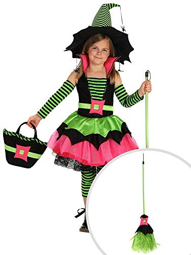 Spiderina Costume Kit Kids Medium With Broom -