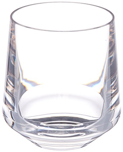 Drinique VIN-SW-CLR-4 Stemless Unbreakable Tritan Wine Glasses, 12 oz (Set of 4), Clear]()