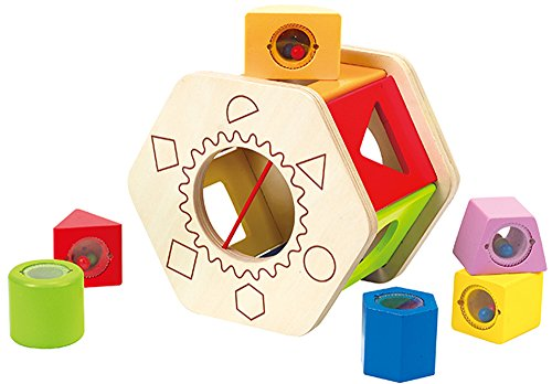 Hape Shake and Match Toddler Wooden Shape Sorter Toy