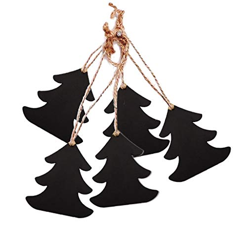 Armfer-household supply 10Pcs Wood Cutout Christmas Decorations Angel Shapes Hanging Chalkboard Tags DIY Mini Wooded Blackboard Labels for Present Party Bags Wine Bottles Arts Crafts Home Decoration (Iron Prices Wrought)