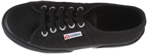 Superga - Zapatos de cordones de algodón para hombre Noir