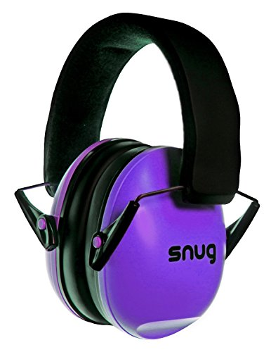 Snug Safe n Sound Kids Earmuffs / Hearing Protectors - Adjustable Headband Ear Defenders For Children and Adults (Purple)