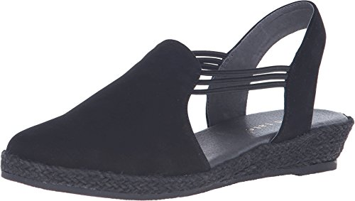 David Tate Women's Nelly Slingback,Black Nubuck,US 10 M