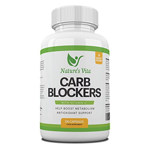 Nature's Vita Carb Blocker Complex   Natural Weight Loss Support, Appetite Suppressant, Fat Breakdown & Immune Boost…