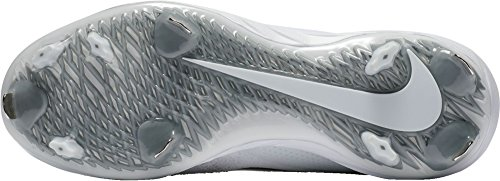 Nike Mens Lunaire Vapeur Taquet Baseball Élite Ultrafly Blanc / Noir