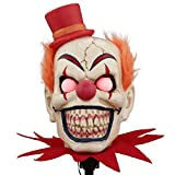 Scary Clown Halloween Lawn Stakes Pathway Markers 18 in LED Lights Battery Operated