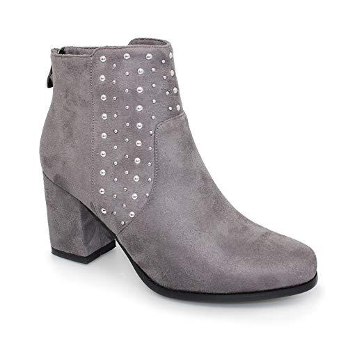 Lunari Marnie Grigio Boots Donne Caviglia ZBxOqUC6w6