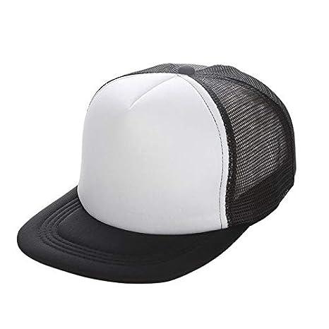 49b72221af7bd BEESCLOVER Running Cap Hip Hop Mesh Snapback Hat Women Men Flat Brim Blank  Plain B