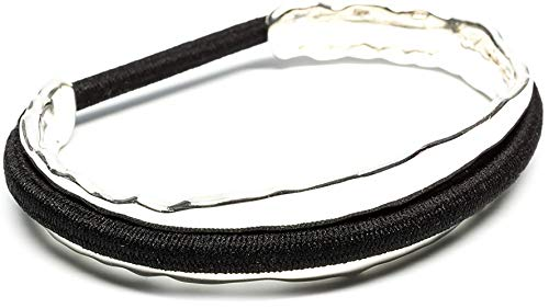 Maria Shireen: Bittersweet Hair Tie Bracelet - Original Design - Stainless Steel Hair Tie Holder - Functional Fashion Accessory - Keeps Track of Hair Ties - Comfortable and Stylish - Medium