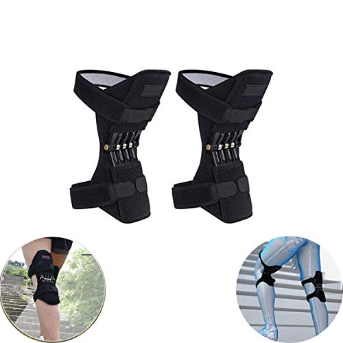 ALOVEMO Joint Support Knee Pads, Knee Patella Strap, Power Lift Spring Force, Tendon Brace Band Pad for Arthritis Tendonitis Gym 1 Pair