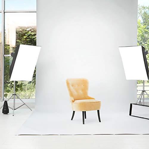 Julius Studio 10 ft. X 12 ft. Long Life Time Reusable White Chromakey Photo Video Photography Studio Fabric Backdrop, Background Screen, Pure White Muslin, Photography Studio, JSAG208