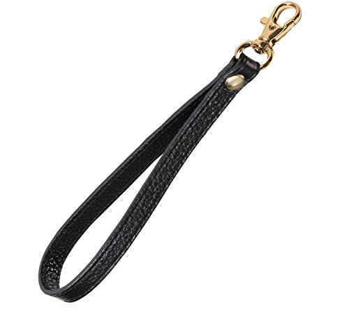 UTreers Wristlet Strap, Genuine Leather Keychain Wristlet KeyChain Hand Strap for Wallet Purse Clutch Cellphone Wristlet Key ()