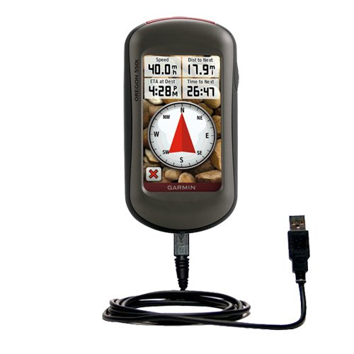 Classic Straight USB Cable for the Garmin Oregon 450 450t 550 550t - Uses Gomadic TipExchange Technology by Gomadic