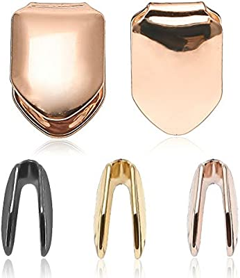 Huangiao 14K Gold Plated Single Top Tooth Grill Cap Gold Plated Small Single Tooth Cap Grillz Hip Hop Teeth Plain Solid Bling Slugs